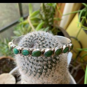 Jewelry - Vintage Turquoise and Sterling Cuff Bracelet